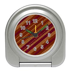 Stripes Course Texture Background Travel Alarm Clocks by Nexatart