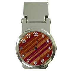 Stripes Course Texture Background Money Clip Watches by Nexatart