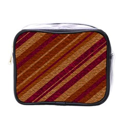 Stripes Course Texture Background Mini Toiletries Bags by Nexatart