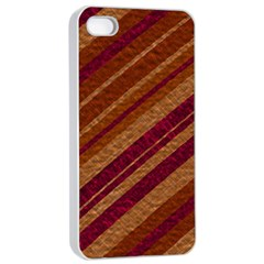 Stripes Course Texture Background Apple Iphone 4/4s Seamless Case (white) by Nexatart