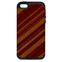 Stripes Course Texture Background Apple Iphone 5 Hardshell Case (pc+silicone)