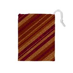 Stripes Course Texture Background Drawstring Pouches (medium)
