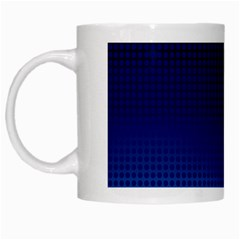 Blue Dot White Mugs by PhotoNOLA