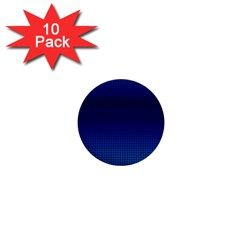 Blue Dot 1  Mini Buttons (10 Pack)  by PhotoNOLA