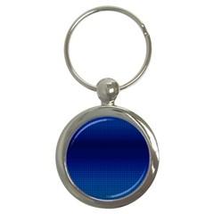 Blue Dot Key Chains (round)  by PhotoNOLA