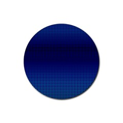 Blue Dot Rubber Round Coaster (4 Pack)  by PhotoNOLA
