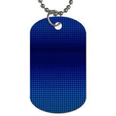 Blue Dot Dog Tag (two Sides) by PhotoNOLA