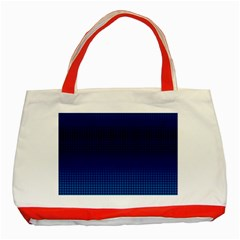 Blue Dot Classic Tote Bag (red) by PhotoNOLA