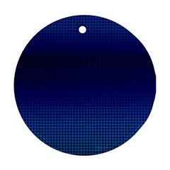 Blue Dot Round Ornament (two Sides) by PhotoNOLA