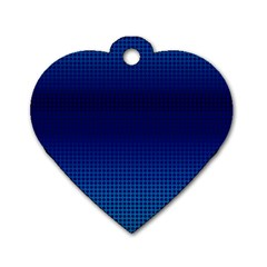 Blue Dot Dog Tag Heart (two Sides) by PhotoNOLA