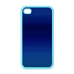 Blue Dot Apple Iphone 4 Case (color) by PhotoNOLA