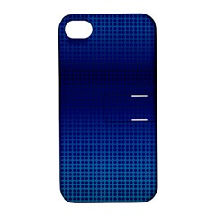 Blue Dot Apple Iphone 4/4s Hardshell Case With Stand by PhotoNOLA