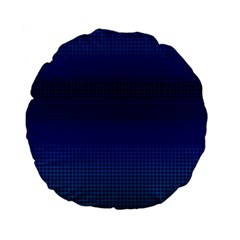 Blue Dot Standard 15  Premium Flano Round Cushions by PhotoNOLA