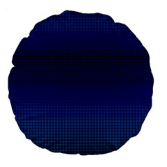 Blue Dot Large 18  Premium Flano Round Cushions by PhotoNOLA