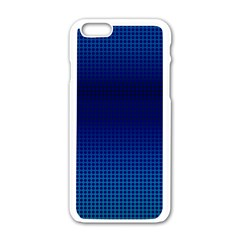 Blue Dot Apple Iphone 6/6s White Enamel Case by PhotoNOLA