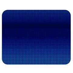 Blue Dot Double Sided Flano Blanket (medium)  by PhotoNOLA