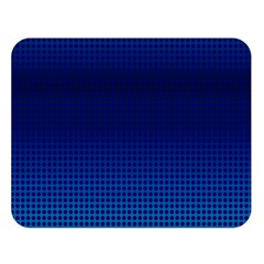 Blue Dot Double Sided Flano Blanket (large)  by PhotoNOLA
