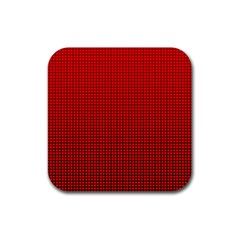 Redc Rubber Coaster (square)  by PhotoNOLA