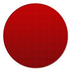 Redc Magnet 5  (round) by PhotoNOLA