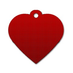 Redc Dog Tag Heart (one Side) by PhotoNOLA