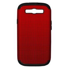 Redc Samsung Galaxy S Iii Hardshell Case (pc+silicone) by PhotoNOLA