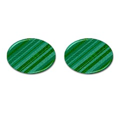 Stripes Course Texture Background Cufflinks (oval) by Nexatart