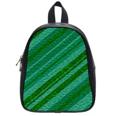 Stripes Course Texture Background School Bags (small)
