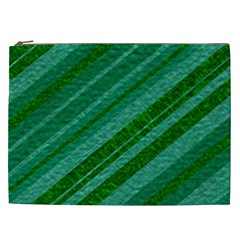 Stripes Course Texture Background Cosmetic Bag (xxl)  by Nexatart