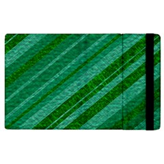 Stripes Course Texture Background Apple Ipad 3/4 Flip Case by Nexatart