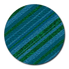 Stripes Course Texture Background Round Mousepads by Nexatart