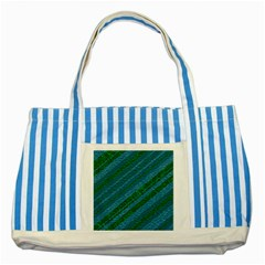 Stripes Course Texture Background Striped Blue Tote Bag by Nexatart