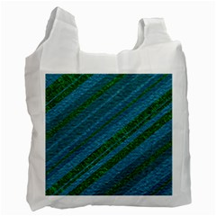 Stripes Course Texture Background Recycle Bag (two Side)  by Nexatart