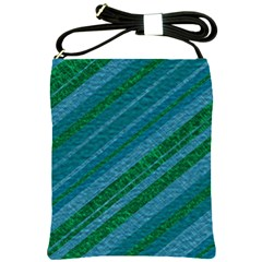 Stripes Course Texture Background Shoulder Sling Bags by Nexatart