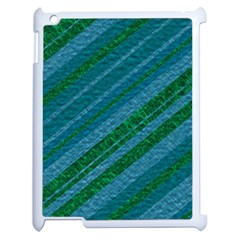 Stripes Course Texture Background Apple Ipad 2 Case (white) by Nexatart