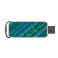 Stripes Course Texture Background Portable Usb Flash (two Sides)