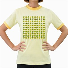 St Patrick S Day Background Symbols Women s Fitted Ringer T Shirts