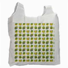 St Patrick S Day Background Symbols Recycle Bag (one Side) by Nexatart