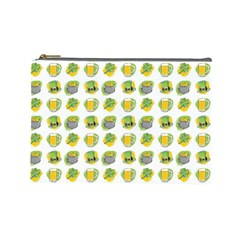 St Patrick S Day Background Symbols Cosmetic Bag (large)  by Nexatart