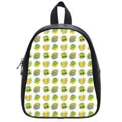 St Patrick S Day Background Symbols School Bags (small)  by Nexatart