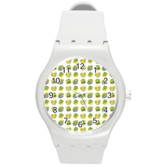 St Patrick S Day Background Symbols Round Plastic Sport Watch (m) by Nexatart