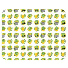 St Patrick S Day Background Symbols Double Sided Flano Blanket (medium)  by Nexatart