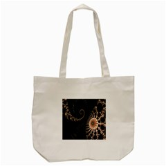Fractal Black Pearl Abstract Art Tote Bag (cream) by Nexatart