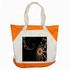 Fractal Black Pearl Abstract Art Accent Tote Bag
