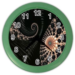 Fractal Black Pearl Abstract Art Color Wall Clocks by Nexatart