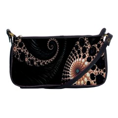 Fractal Black Pearl Abstract Art Shoulder Clutch Bags