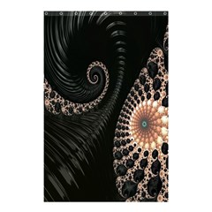 Fractal Black Pearl Abstract Art Shower Curtain 48  X 72  (small)  by Nexatart