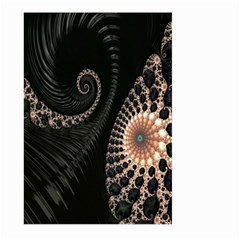 Fractal Black Pearl Abstract Art Large Garden Flag (two Sides)