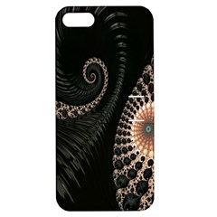 Fractal Black Pearl Abstract Art Apple Iphone 5 Hardshell Case With Stand by Nexatart