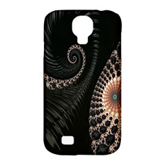 Fractal Black Pearl Abstract Art Samsung Galaxy S4 Classic Hardshell Case (pc+silicone)