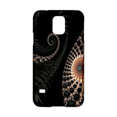 Fractal Black Pearl Abstract Art Samsung Galaxy S5 Hardshell Case  by Nexatart